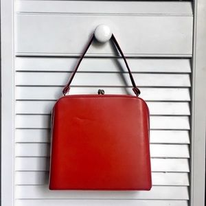 Vintage Red Leather Purse 🍒
